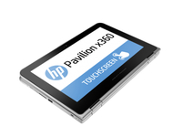 "HP Pavilion x360 11-k000na 1.6GHz N3050 11.6"" 1366 x 768Pixel Touch screen Argento Ibrido (2 in 1)"
