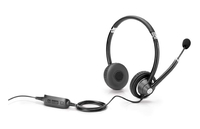 HP UNIFIED COMMUNICATION BUNDEL (K7V17AA + K8P74AA) Communication Keyboard + Wired Headset *Lync Certified* Stereofonico Padiglione auricolare Nero cuffia e auricolare