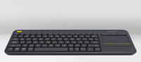 Logitech K400 Plus RF Wireless QWERTY Ceco Nero tastiera