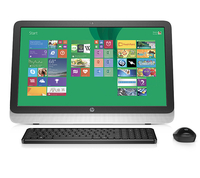 "HP 23-r011in 1.9GHz i5-4460T 23"" 1920 x 1080Pixel Nero, Argento PC All-in-one"