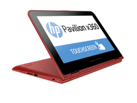 "HP Pavilion x360 11-k027tu 1.6GHz N3050 11.6"" 1366 x 768Pixel Touch screen Rosso Ibrido (2 in 1)"