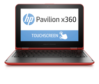 "HP Pavilion x360 11-k041tu 0.8GHz M-5Y10c 11.6"" 1366 x 768Pixel Touch screen Nero, Rosso Ibrido (2 in 1)"