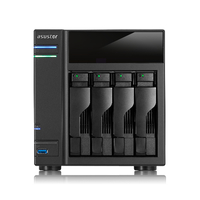 ASUS AS-304T NAS Collegamento ethernet LAN Nero