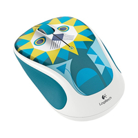 Logitech M317c RF Wireless Ottico 1000DPI Blu, Bianco mouse