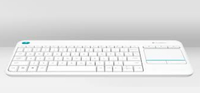 Logitech K400 Plus RF Wireless QWERTY Inglese UK Bianco tastiera
