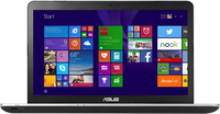 "ASUS N751JX-T4178H 2.6GHz i7-4720HQ 17.3"" 1920 x 1080Pixel Alluminio, Argento Netbook notebook/portatile"