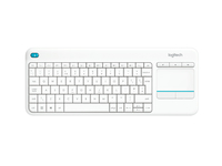 Logitech K400 Plus RF Wireless QWERTY US International Bianco tastiera
