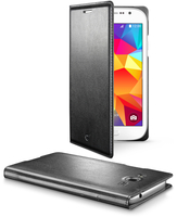 Cellularline Flip-Book - Galaxy Grand Neo Plus/Grand Neo Custodia a libro ultra-slim che esalta il design Nero
