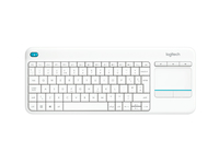 Logitech K400 Plus RF Wireless Svizzere Bianco tastiera