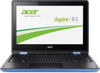"Acer Aspire R 11 R3-131T-C2CB 1.6GHz N3050 11.6"" 1366 x 768Pixel Touch screen Nero, Blu Ibrido (2 in 1)"
