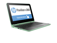 "HP Pavilion x360 11-k082no 1.6GHz N3700 11.6"" 1366 x 768Pixel Touch screen Verde, Argento Ibrido (2 in 1)"