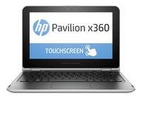 "HP Pavilion x360 11-k083no 1.6GHz N3700 11.6"" 1366 x 768Pixel Touch screen Nero, Argento Ibrido (2 in 1)"