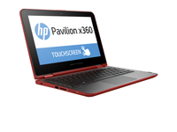 "HP Pavilion x360 11-k084no 1.6GHz N3700 11.6"" 1366 x 768Pixel Touch screen Rosso Ibrido (2 in 1)"