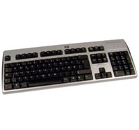 HP 271124-031 USB QWERTY Inglese UK Nero, Argento tastiera