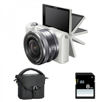 Sony a5000 + 16-50mm MILC 20.1MP CMOS 5456 x 3632Pixel Bianco