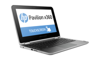 "HP Pavilion x360 11-k000ng 1.6GHz N3700 11.6"" 1366 x 768Pixel Touch screen Argento Ibrido (2 in 1)"