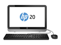"HP 20-r102nf 1.4GHz E1-6015 19.5"" 1600 x 900Pixel Nero, Bianco PC All-in-one"