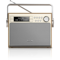 Philips Portatile Digitale Metallico, Legno radio