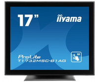 "iiyama ProLite T1732MSC-B1AG 17"" 1280 x 1024Pixel Multi-touch Da tavolo Nero monitor touch screen"