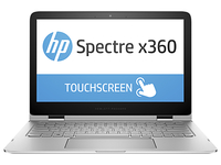 "HP Spectre x360 13-4102dx 2.4GHz i7-5500U 13.3"" 2560 x 1440Pixel Touch screen Argento Ibrido (2 in 1)"