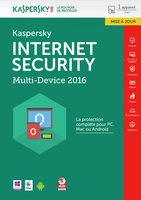 Kaspersky Lab Internet Security - Multi-Device 2016 1utente(i) 1anno/i Francese