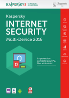 Kaspersky Lab Internet Security - Multi-Device 2016 Base license 3utente(i) 1anno/i Francese