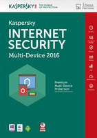 Kaspersky Lab Internet Security - Multi-Device 2016 Base license 1utente(i) 1anno/i Inglese