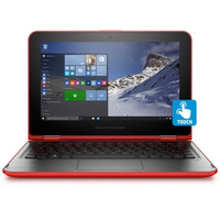 "HP Pavilion x360 11-k162nr 1.6GHz N3700 11.6"" 1366 x 768Pixel Touch screen Nero, Rosso Ibrido (2 in 1)"