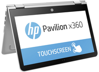 "HP Pavilion x360 13-s102na 2.3GHz i3-6100U 13.3"" 1366 x 768Pixel Touch screen Argento Ibrido (2 in 1)"