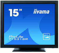 "iiyama ProLite T1531SR-B3 15"" 1024 x 768Pixel Multi-touch Da tavolo Nero monitor touch screen"