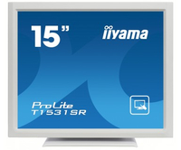 "iiyama ProLite T1531SR-W3 15"" 1024 x 768Pixel Multi-touch Da tavolo Bianco monitor touch screen"