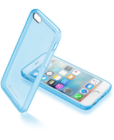 Cellularline Clear Color - iPhone 6S/6 Cover rigida super colorata e cornice morbida Blu