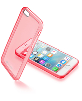 Cellularline Clear Color - iPhone 6S/6 Cover rigida super colorata e cornice morbida Rosa