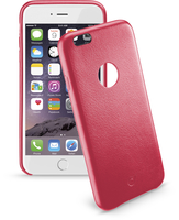 Cellularline Class - iPhone 6S/6 Plus Cover rigida con elegante effetto pelle e interni in microfibra Rosso
