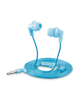 Cellularline Cricket - Universale Auricolari in-ear super colorati Blu