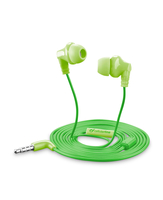 Cellularline Cricket - Universale Auricolari in-ear super colorati Verde