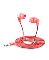 Cellularline Cricket - Universale Auricolari in-ear super colorati Rosa