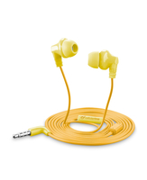 Cellularline Cricket - Universale Auricolari in-ear super colorati Giallo