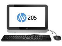 "HP 200 205 G2 1.35GHz E1-6010 18.5"" 1366 x 768Pixel Nero, Argento PC All-in-one"