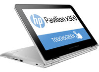 "HP Pavilion x360 11-k100ns 1.6GHz N3050 11.6"" 1366 x 768Pixel Touch screen Argento Ibrido (2 in 1)"