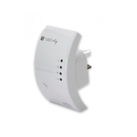 Techly Ripetitore Wireless 300N (Range Extender) con WPS, spina UK (I-WL-REPEATER/UK)