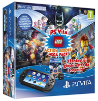 "Sony Ps Vita 2016 + MC 8GB + LEGO MegaPack 5"" Touch screen Wi-Fi Nero console da gioco portatile"