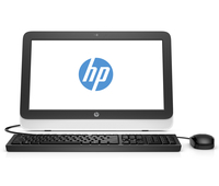 "HP 20-r100nd 1.4GHz E1-6015 19.45"" 1600 x 900Pixel Nero, Bianco PC All-in-one"