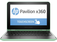 "HP Pavilion x360 11-k102nl 1.6GHz N3700 11.6"" 1366 x 768Pixel Touch screen Verde, Argento Ibrido (2 in 1)"