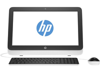 "HP 20-r100nl 1.4GHz E1-6015 19.45"" 1600 x 900Pixel Nero, Bianco PC All-in-one"