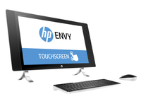 "HP ENVY 24-n075na 2.8GHz i7-6700T 23.8"" 2560 x 1440Pixel Touch screen Perlato, Bianco PC All-in-one"