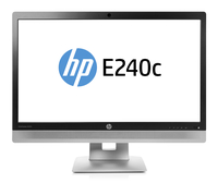 "HP EliteDisplay E240c 23.8"" Full HD IPS Opaco Nero, Argento monitor piatto per PC"