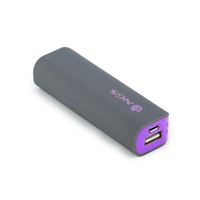 NGS PowerPump 2200 Grape Ioni di Litio 2200mAh Grigio, Viola batteria portatile