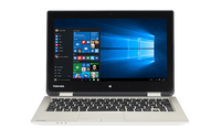 "Toshiba Satellite Radius 11 L10W-C-108 1.6GHz N3700 11.6"" 1366 x 768Pixel Touch screen Alluminio, Oro Ibrido (2 in 1)"