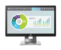 "HP EliteDisplay E202 20"" HD+ IPS Nero, Argento monitor piatto per PC"
